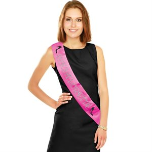 RUBAN EN SATIN ROSE - BACHELORETTE BRILLANT