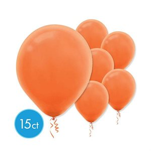 12 IN. SOLID COLOR LATEX BALLOONS 15/PKG
