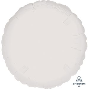 18 FOIL ROUND FLAT OPAQUE WHITE S15