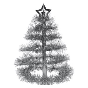 Centre de table sapin argent