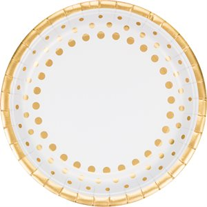 DINNER PLATE FOIL 50TH ANNIV - SPARKLE AND SHINE GOLD