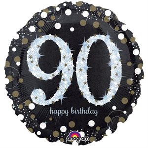 MYLAR 90 HAPPY BIRTHDAY ÉTINCELANT 18 PO.