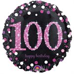 PINK CELEBRATION 100 HOLO 18'' RND