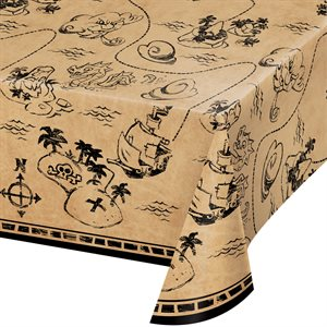 PIRATE TREASURE - PLASTIC TABLECOVER ALL OVER PRINT 54'' X