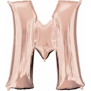LETTER M ROSE GOLD 33'' SHAPE