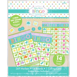 BABY SHOWER - JEU DE BINGO 14 CARTES