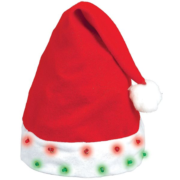 HAT SANTA FLASHING LIGHT BULB