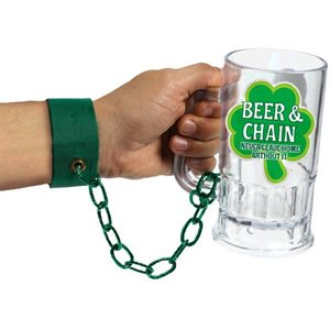 ST. PATRICK'S DAY BEER & CHAIN ARM BAND