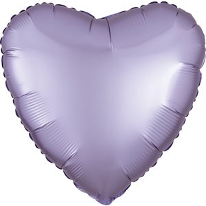 18'' HEART PASTEL LILAC SATIN LUXE