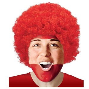 PERRUQUE AFRO - ROUGE POMME