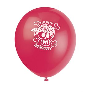 PIRATE FUN 12'' LATEX BALLOONS 8CT