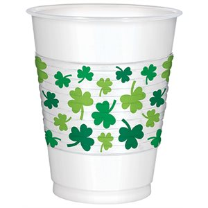 ST. PATRICK'S DAY PLASTIC CUPS 16 OZ.
