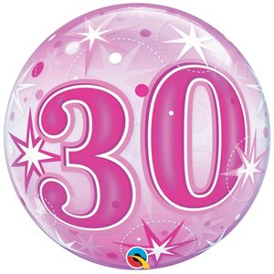 30 PINK STARBURST 22'' BUBBLE