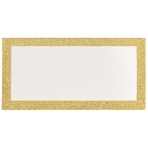 PLACE CARDS - GOLD GLITTER