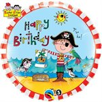 Mylar Happy Birthday Pirate