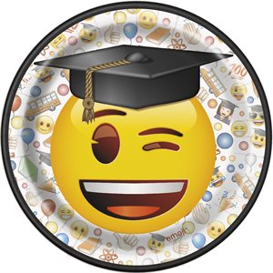 ASSIETTES 7 PO. EMOTICONE GRADUATION 8/PQT