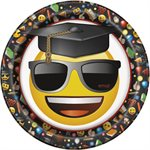 ASSIETTES 9 PO. EMOTICONE GRADUATION 8/PQT