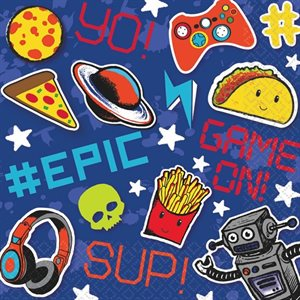 EPIC PARTY - SERVIETTES REPAS 16/PQT