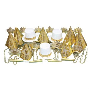 GOLD & WHITE PARTY KIT FOR 50
