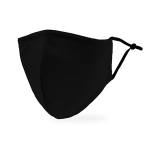 ADULT PROTECTIVE CLOTH FACE MASK - BLACK