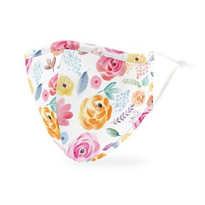 ADULT PROTECTIVE CLOTH FACE MASK - WATERCOLOR ROSE