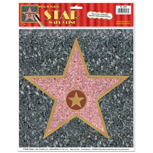 "12""X15"" STAR PEEL N PLACE"