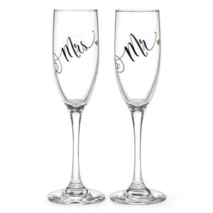 MR. & MRS BLACK & GOLD FLUTES