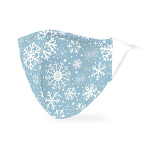 ADULT PROTECTIVE CLOTH FACE MASK - FALLING SNOWFLAKES