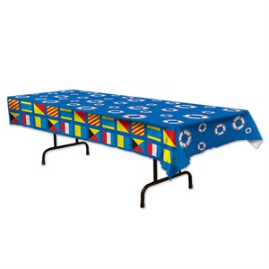 """NAUTICAL TABLE COVER 54""""X108"""" 3 MIN"""