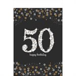 SPARKLING CELEBRATION 50 PLASTIC TABLE COV