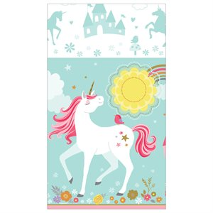 PAPER TABLECLOTH 54'' X 102'' - MAGICAL UNICORN