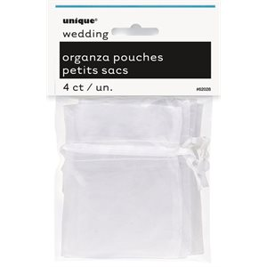ORGANZA POUCHES WITH DRAWSTRI