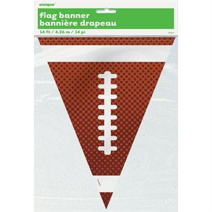 PLASTIC FOOTBALL FLAG BANNER