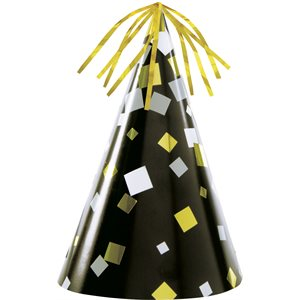 FOIL CHEERS NEW YEAR'S EVE PARTY HATS 4/PKG