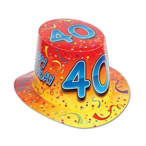 CHAPEAU 40 HAPPY BIRTHDAY ORANGE