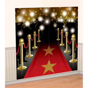 HOLLYWOOD SCENE SETTERS WALL DECORATING KIT 2 PIECES