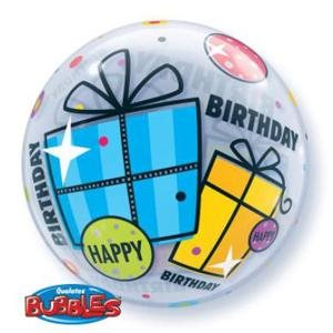BDAY FUNKY GIFT 22'' BUBBLES