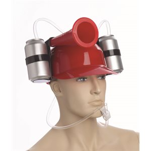 DRINKING HELMET W/HORN-RED