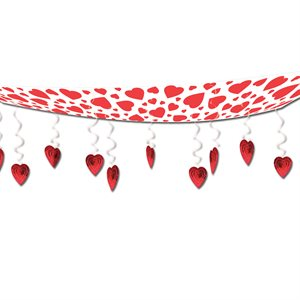 12''X12' HEART CEILING DECOR 1/pkg
