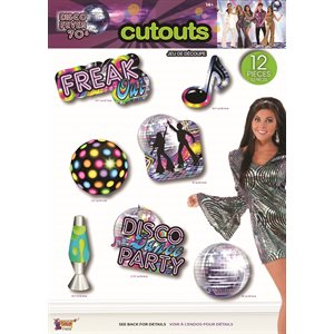 DISCO PARTY DECOR-WALL CUT OUT