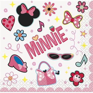MINNIE MOUSE - SERVIETTES BREUVAGE 16/PQT