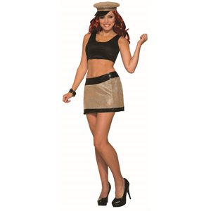 DISCO GOLD MINI SKIRT -STD