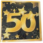 ÉTOILES OR 50 - SERVIETTES DE TABLE50