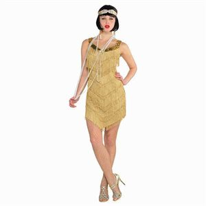 CHAMPAGNE FLAPPER DRESS - ADULT STANDARD