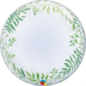 ELEGANT GREENERY 24'' DECO BUBBLE PKG