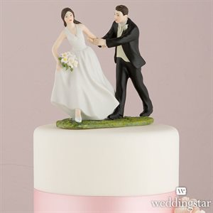 race to the alter couple figurine