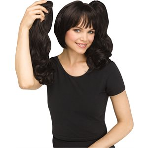 3-IN-1 PONY WIG ASSORTMENT BLACK