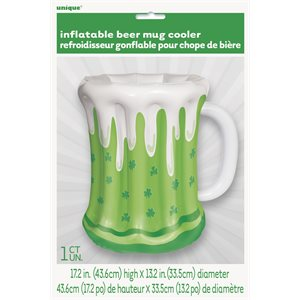 INFLATABLE ST PATRICK'S DAY BEER MUG COOLER