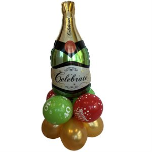 BALLOONS ARRANGEMENT - CHAMPAGNE ON BALLOONS WEIGHT