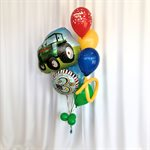 BALLOONS ARRANGEMENT - COLORFUL TRACTOR WITH AGE